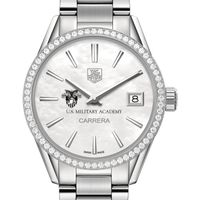 US Military Academy Women's TAG Heuer Steel Carrera with MOP Dial & Diamond Bezel