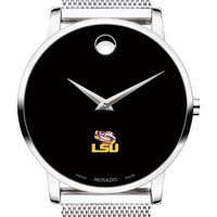 Louisiana State University Men's Movado Museum with Mesh Bracelet