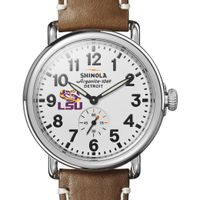 LSU Shinola Watch, The Runwell 41mm White Dial