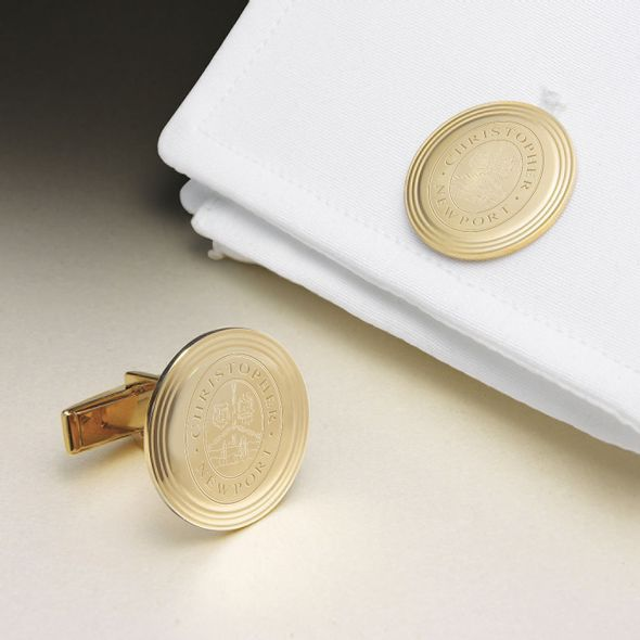 Christopher Newport University 18K Gold Cufflinks - Image 1