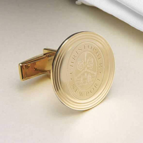 Christopher Newport University 18K Gold Cufflinks - Image 2