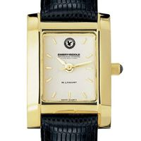 Embry-Riddle Women's Gold Quad with Leather Strap