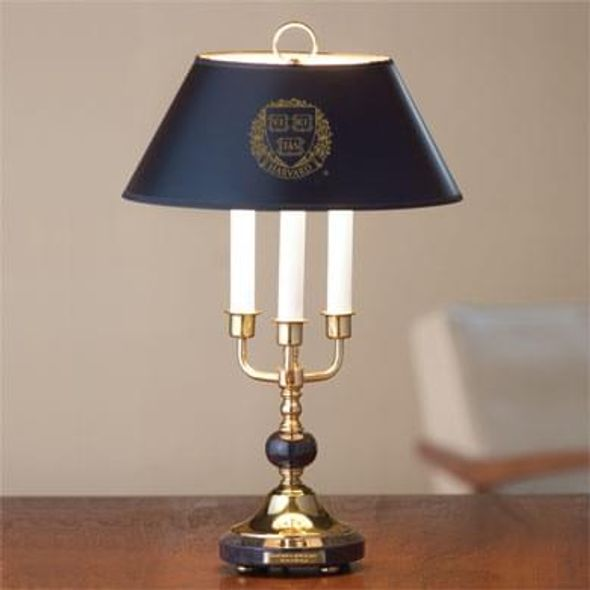 Harvard University Lamp in Brass & Marble
