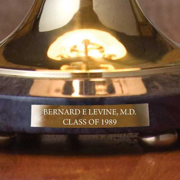 Brigham Young University Lamp in Brass & Marble - Image 3