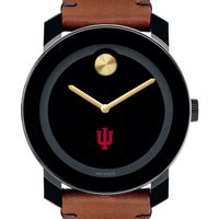 Indiana University Men's Movado BOLD with Brown Leather Strap