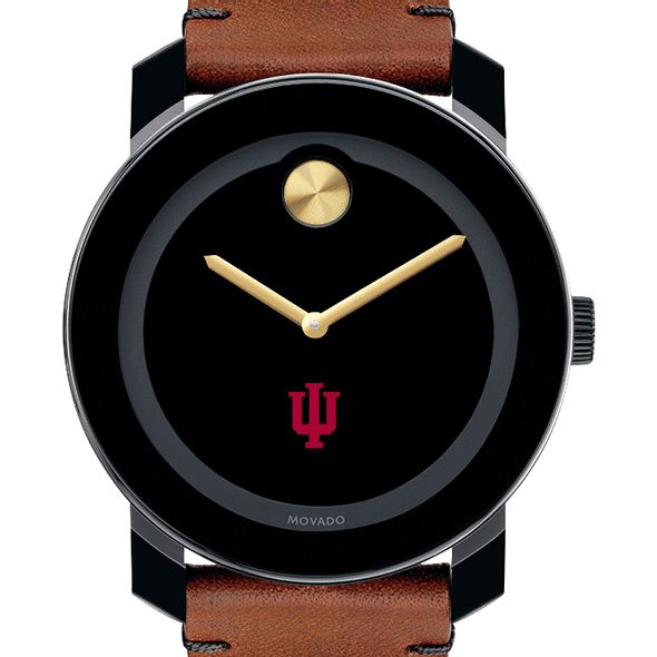 Indiana University Men's Movado BOLD with Brown Leather Strap - Image 1
