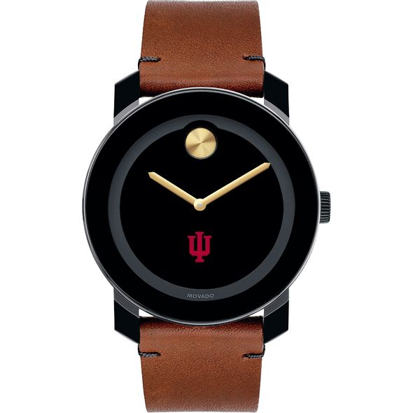 Indiana University Men's Movado BOLD with Brown Leather Strap - Image 2