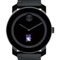 Northwestern University Men's Movado BOLD with Leather Strap