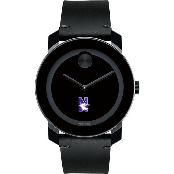 Northwestern University Men's Movado BOLD with Leather Strap - Image 2