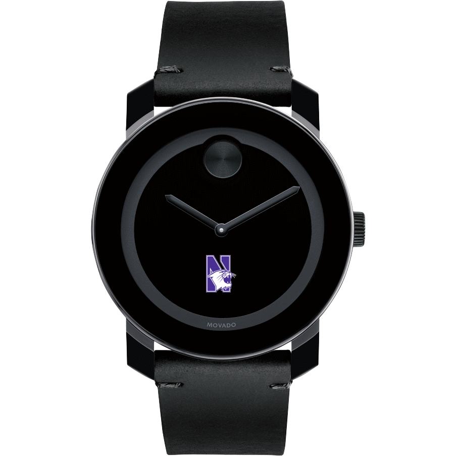 Northwestern Men's Movado BOLD with Leather Strap - Image 2