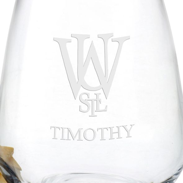 WashU Stemless Wine Glasses - Set of 4 - Image 3
