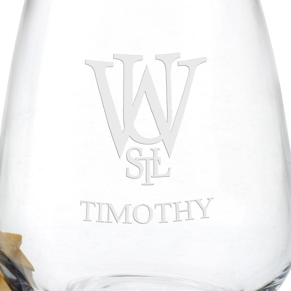 WUSTL Stemless Wine Glasses - Set of 4 - Image 3
