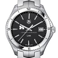 Michigan TAG Heuer Men's Link Watch with Black Dial