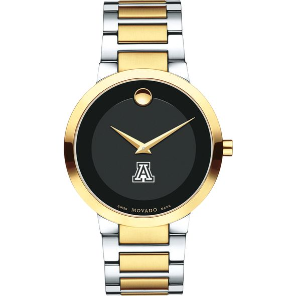 University of Arizona Men's Movado Two-Tone Modern Classic Museum with Bracelet - Image 2