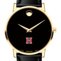 Harvard University Men's Movado Gold Museum Classic Leather