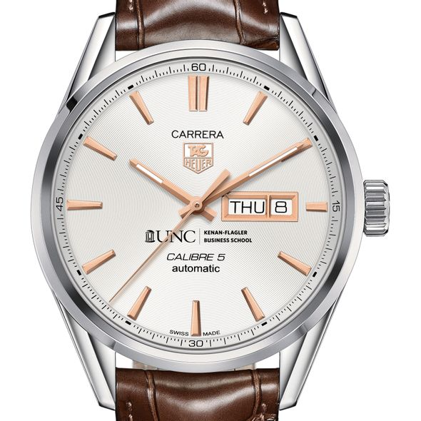 UNC Kenan-Flagler Men's TAG Heuer Day/Date Carrera with Silver Dial & Strap