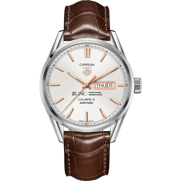 UNC Kenan-Flagler Men's TAG Heuer Day/Date Carrera with Silver Dial & Strap - Image 2