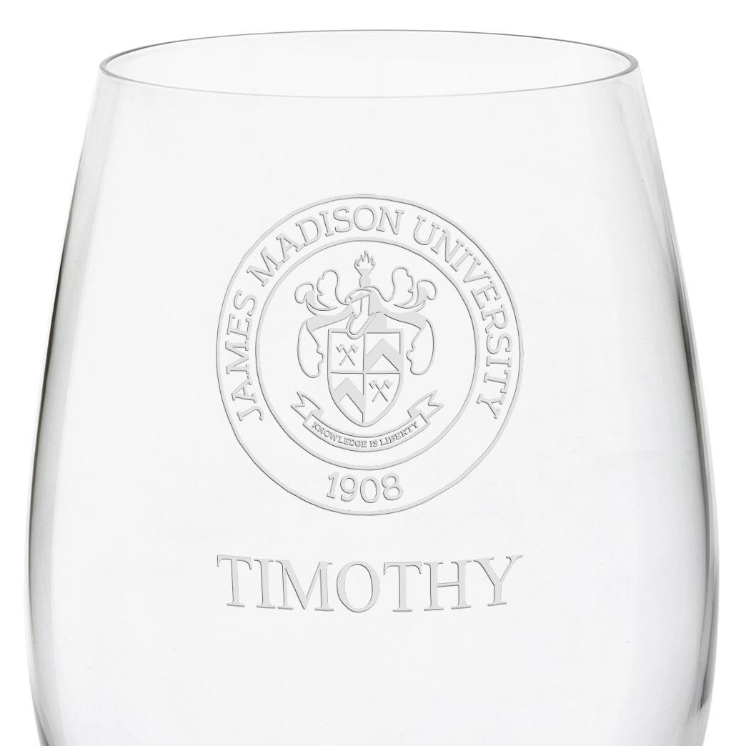 James Madison University Red Wine Glasses - Set of 4 - Image 3