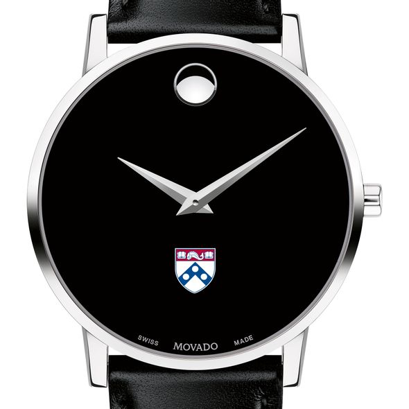 University of Pennsylvania Men's Movado Museum with Leather Strap - Image 1