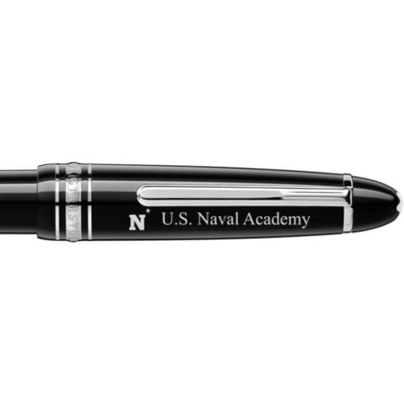 US Naval Academy Montblanc Meisterstück LeGrand Ballpoint Pen in Platinum - Image 2