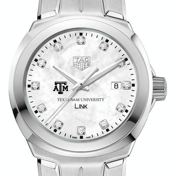 Texas A&M University TAG Heuer Diamond Dial LINK for Women - Image 1