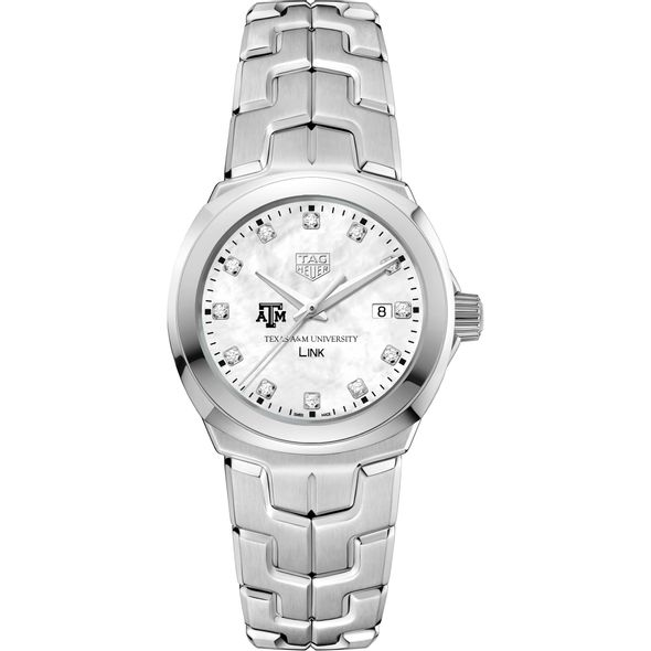 Texas A&M University TAG Heuer Diamond Dial LINK for Women - Image 2