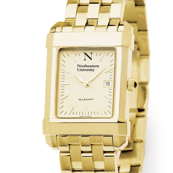 Northeastern Men's Gold Quad with Bracelet - Image 1