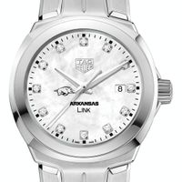 University of Arkansas TAG Heuer Diamond Dial LINK for Women