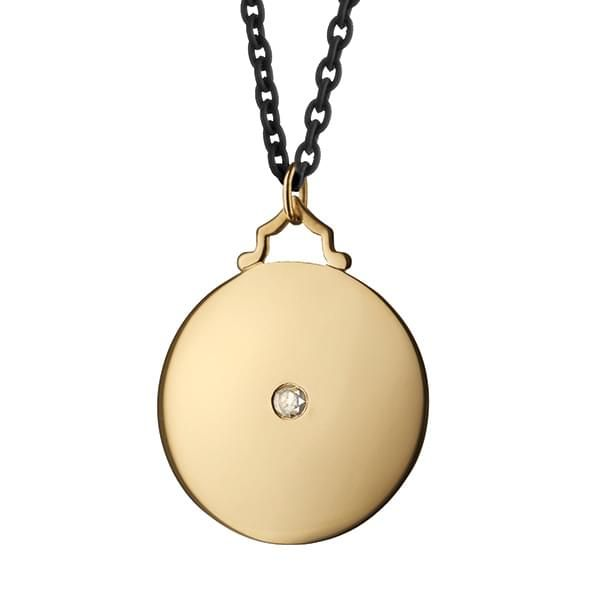 NYU Monica Rich Kosann Round Charm in Gold with Stone