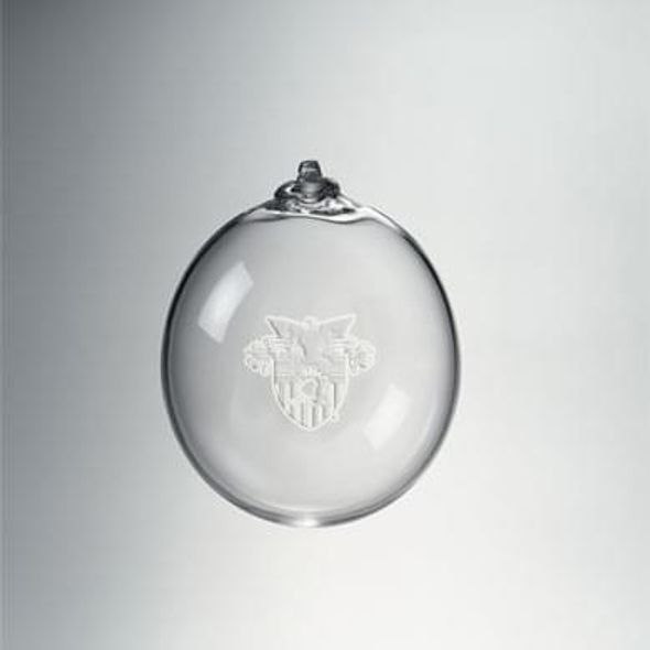West Point Glass Ornament by Simon Pearce