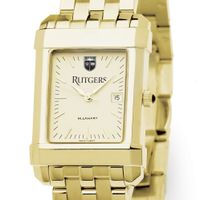 Rutgers University Men's Gold Quad with Bracelet