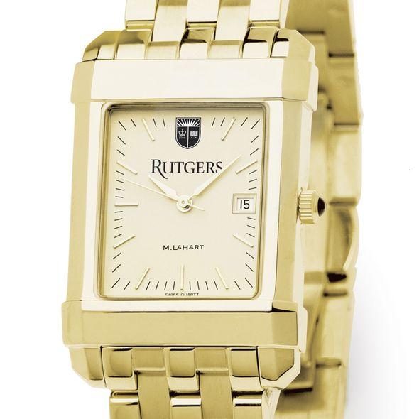 Rutgers University Men's Gold Quad with Bracelet