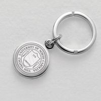 UNC Sterling Silver Insignia Key Ring