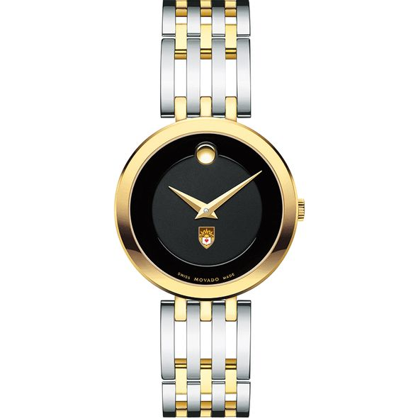 Lehigh University Women's Movado Esparanza Two-Tone Museum with Bracelet - Image 2