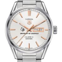 University of Louisville Men's TAG Heuer Day/Date Carrera with Silver Dial & Bracelet