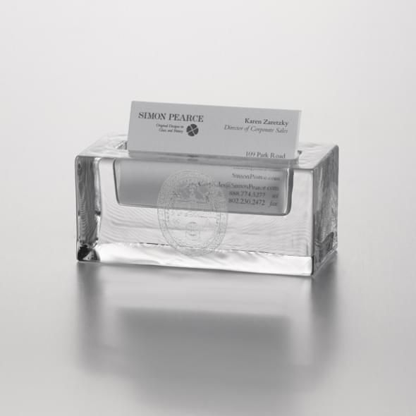 UVM Glass Business Cardholder by Simon Pearce