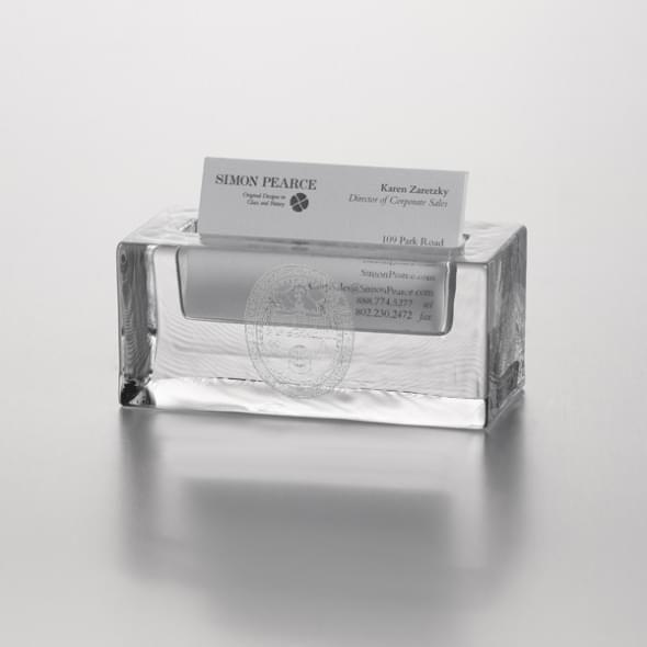 UVM Glass Business Cardholder by Simon Pearce - Image 2