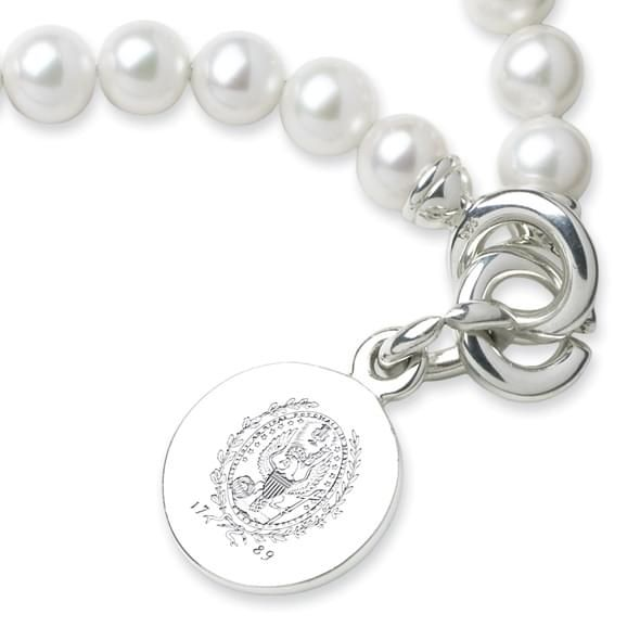 Georgetown Pearl Bracelet with Sterling Silver Charm - Image 2
