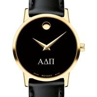 Alpha Delta Pi Women's Movado Gold Museum Classic Leather