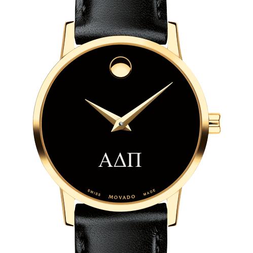 Alpha Delta Pi Women's Movado Gold Museum Classic Leather
