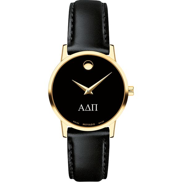 Alpha Delta Pi Women's Movado Gold Museum Classic Leather - Image 2