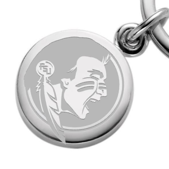 Florida State Sterling Silver Insignia Key Ring - Image 2