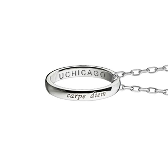 "Chicago Monica Rich Kosann ""Carpe Diem"" Poesy Ring Necklace in Silver - Image 3"
