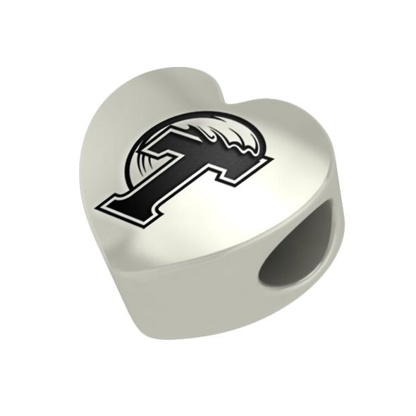 Tulane University Heart Shaped Bead