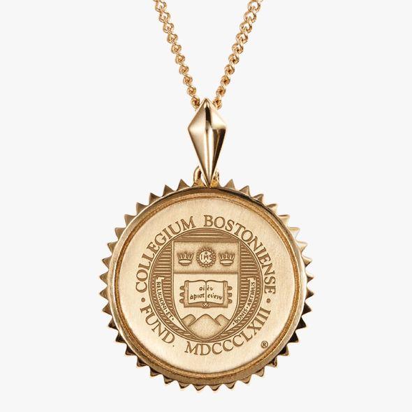 Boston College 14K Gold Sunburst Necklace by Kyle Cavan