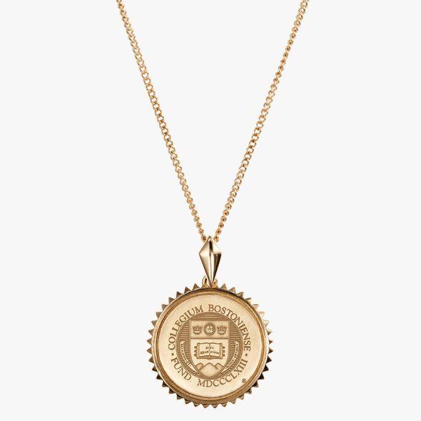Boston College 14K Gold Sunburst Necklace by Kyle Cavan - Image 2