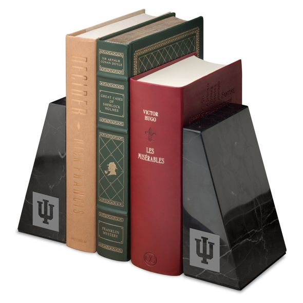 Indiana University Marble Bookends by M.LaHart