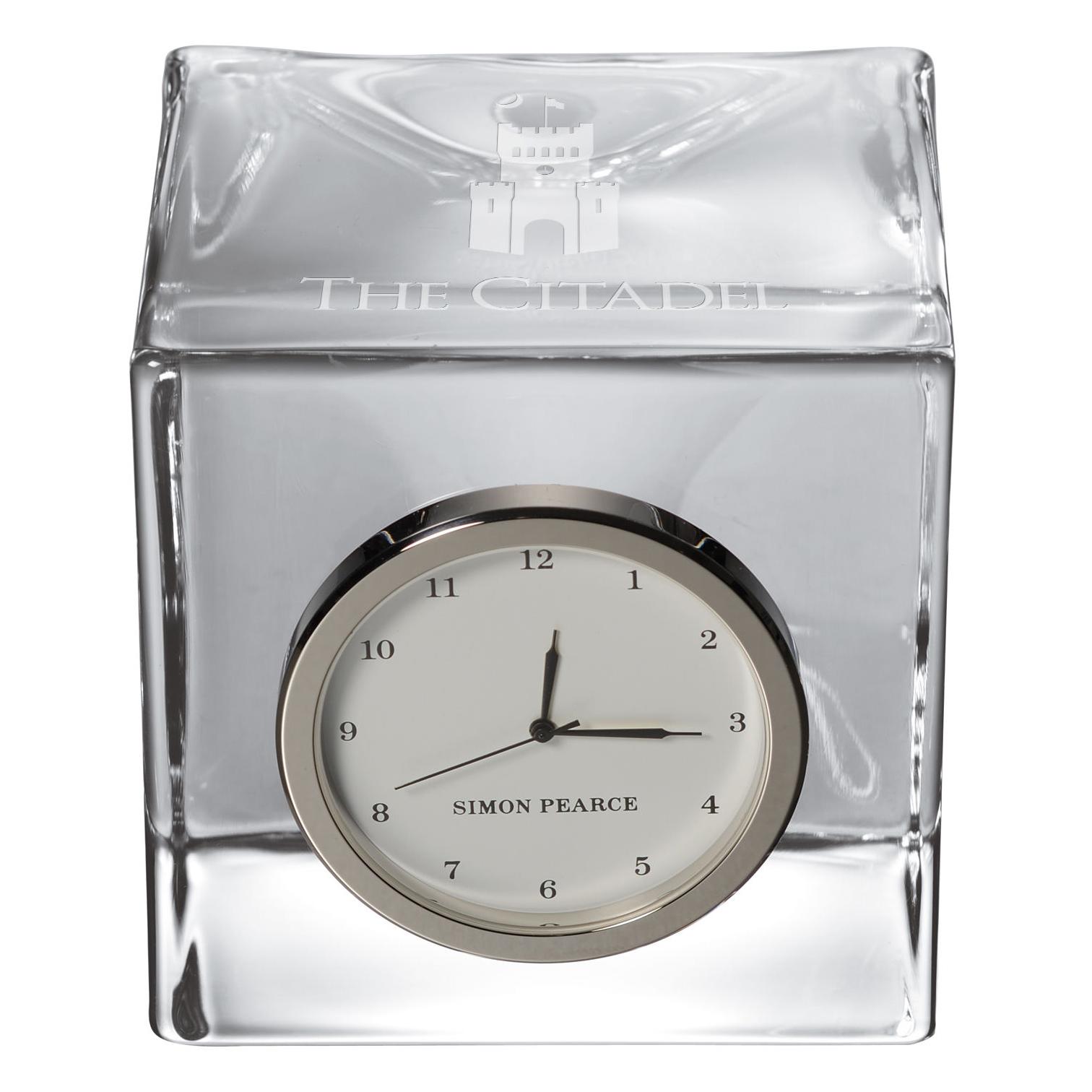 Citadel Glass Desk Clock by Simon Pearce - Image 2