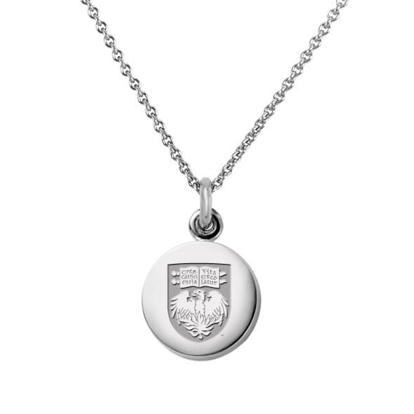 University of Chicago Necklace with Charm in Sterling Silver