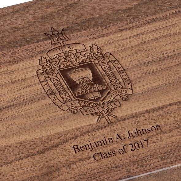 US Naval Academy Solid Walnut Desk Box - Image 3
